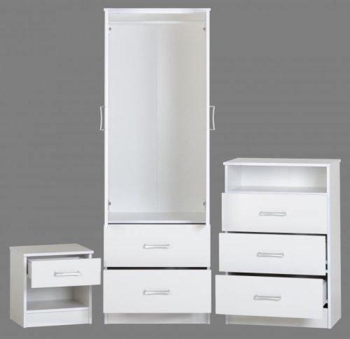 100-108-004Polar Bedroom Set White - IWFurniture