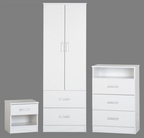 100-108-004 Polar Bedroom Set White - IWFurniture