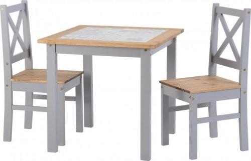 400-401-172 Salvador 1+2 Tile Top Dining Set Slate Grey - IWFurniture