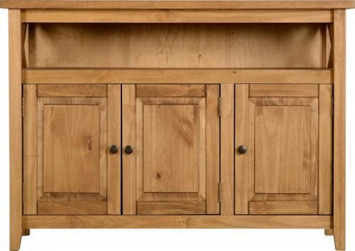 400-405-028 Salvador Tile Top 3 Door Sideboard, Distressed Waxed Pine - IWFurniture