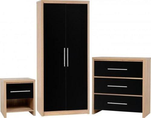 100-108-009Seville Bedroom Set Black - IWFurniture