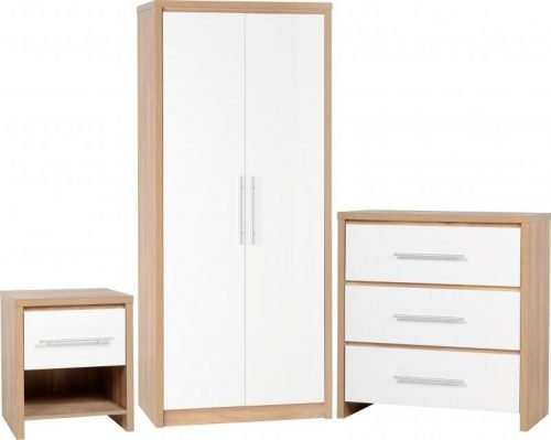 100-108-008 Seville Bedroom Set White - IWFurniture