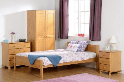 100-101-046 Sol 2 Door Wardrobe Antique Pine - IWFurniture