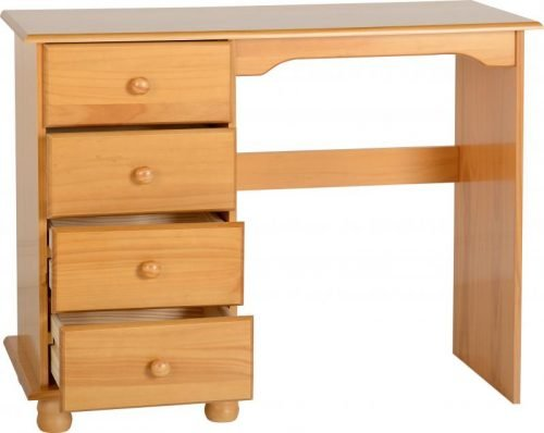 100-105-010 Sol 4 Drawer Dressing Table Antique Pine - IWFurniture