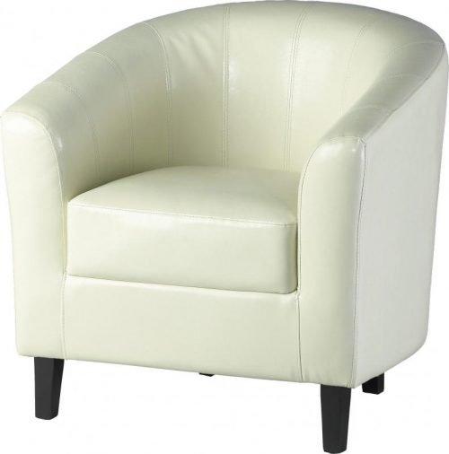 300-309-003 Tempo Tub Chair Cream - IWFurniture