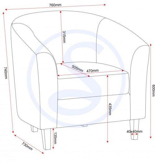 300-309-007 Tempo Tub Chair Sand - IWFurniture