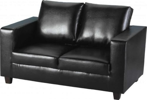 300-308-006 Tempo Two Seater Sofa Black - IWFurniture