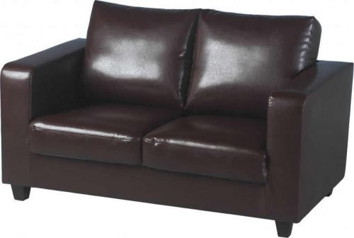 300-308-008 Tempo Two Seater Sofa Brown - IWFurniture
