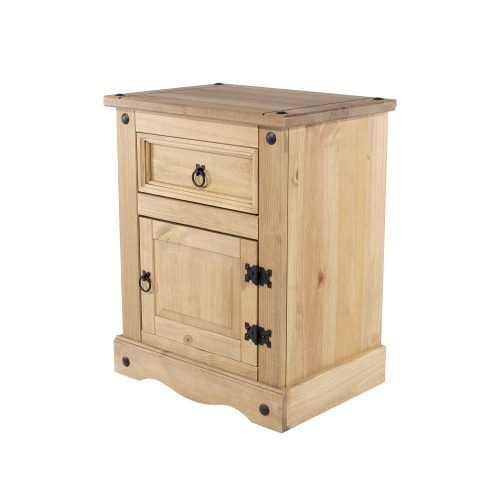 CR510 Corona Premium 1 door 1 drawer bedside - IWFurniture