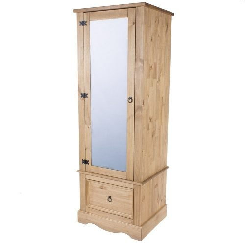CR525 Corona premium armoire with mirrored door - IWFurniture