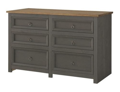 Corona Carbon 3 plus 3 drawer wide chest CRC513 - IW Furniture