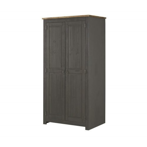 Corona Carbon 2 door wardrobe CRC520 - IW Furniture