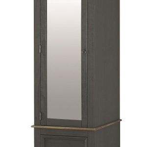 Corona Carbon armoire mirrored door CRC525 - IW Furniture