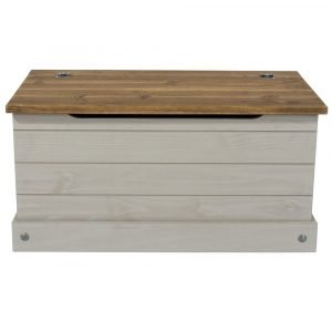 Corona Washed Grey storage trunk - IW Furniture - CRG540