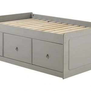 Corona Washed Grey 3ft cabin bed grey wax - IW Furniture - CRG800