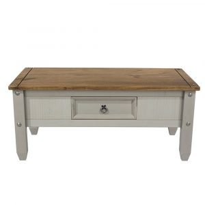 Corona Washed Grey coffee table - IW Furniture - CRG902
