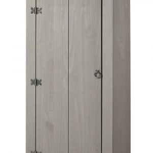 Corona Washed Grey vestry cupboard - IW Furniture - CRG905
