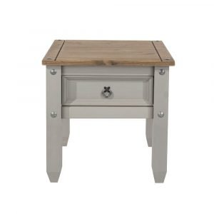 Corona Washed Grey lamp table - IW Furniture - CRG906