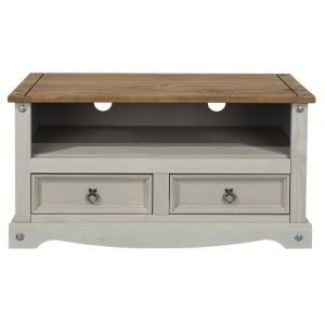Corona Washed Grey flat screen TV unit - IW Furniture - CRG910