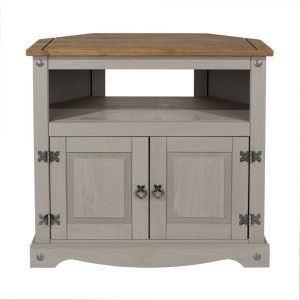 Corona Washed Grey corner TV unit - IW Furniture - CRG911