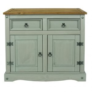 Corona Washed Grey small sideboard - IW Furniture - CRG915
