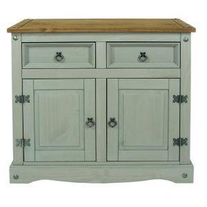 Corona Washed Grey small sideboard - IW Furniture - CRG915
