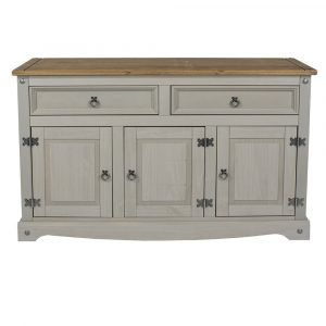 Corona Washed Grey medium sideboard - IW Furniture - CRG916