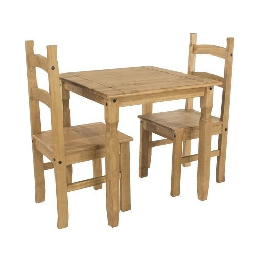 CRTBSET1 Corona Premium Square dining table 2 chairs - IWFurniture