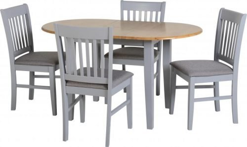 400-401-142 Oxford dining table grey - IWFurniture