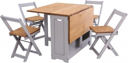 400-401-169 Santos Butterfly Dining Set in Slate Grey - IWFurniture
