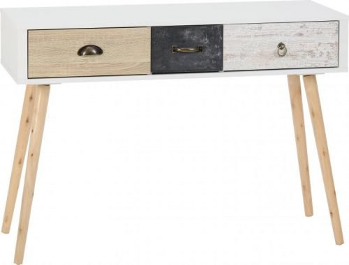 100-120-017 Nordic 3 Drawer Occasional Table - IWFurniture