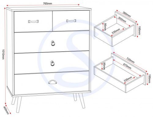 100-102-095 Nordic 3 – 2 Drawer Chest - IWFurniture