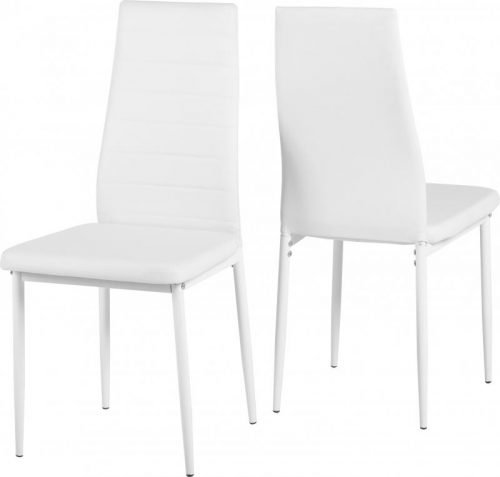 400-402-008 Abbey Chair White - IWFurniture