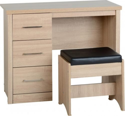 100-107-012 Lisbon 3 Drawer Dressing Table Set - IWFurniture
