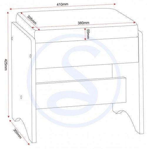 100-107-012 Lisbon 3 Drawer Dressing Table Set – IWFurniture