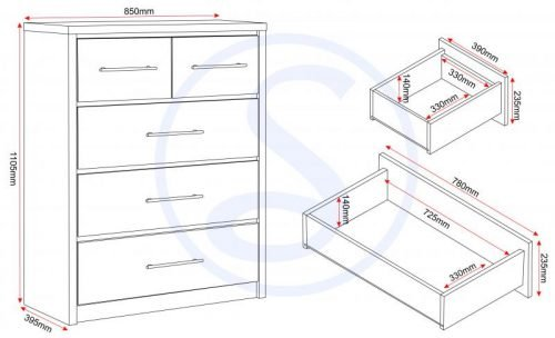 images gallery med MED SEVILLE 3and2 DRAWER CHEST LOGO