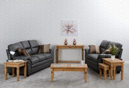Capri 32 Suite Grey Faux Leather 1