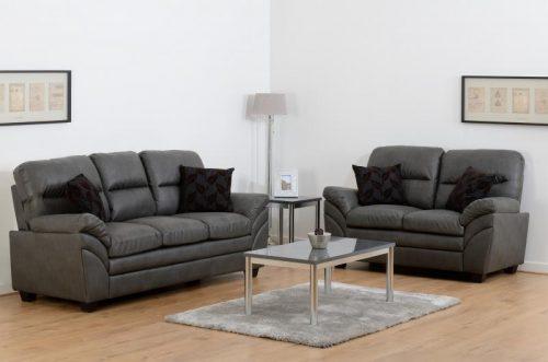 Capri 32 Suite Grey Faux Leather 2