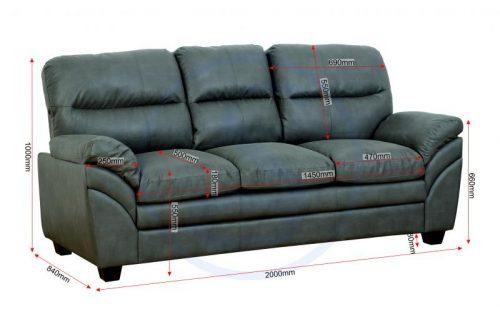 Capri 32 Suite Grey Faux Leather 7