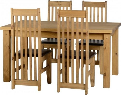 400-401-073 Tortilla 4'9 Dining Set Brown - IWFurniture
