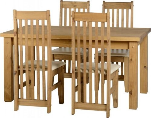 400-401-072 Tortilla 4'9 Dining Set Cream - IWFurniture