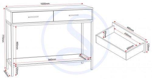 300-304-013 Warwick Console Table – IWFurniture