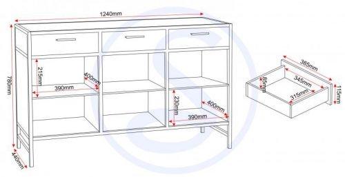 400-405-026 Warwick Sideboard – IWFurniture