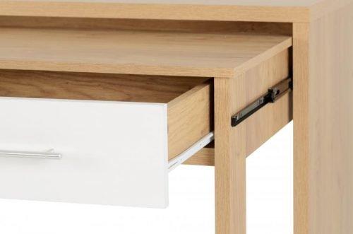 Seville 2 Drawer Slider Desk in White Gloss