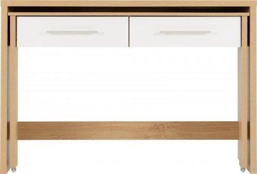 Seville 2 Drawer Slider Desk in White Gloss 4