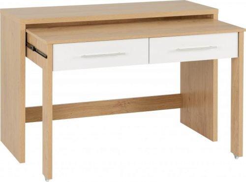 Seville 2 Drawer Slider Desk in White Gloss 7