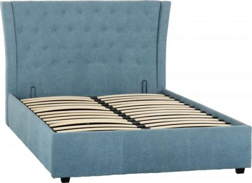 Camden 4 6 Bed in Blue Fabric 1