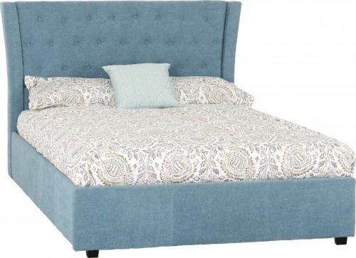 Camden 4 6 Bed in Blue Fabric