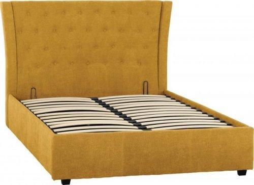 Camden 4 6 Bed in Mustard Fabric 1