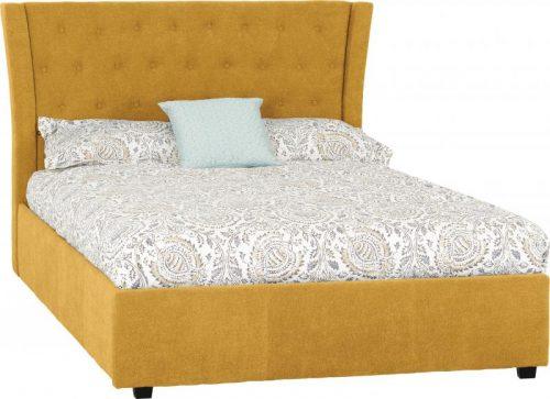 Camden 4 6 Bed in Mustard Fabric